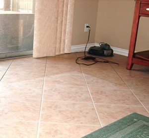 Clean and Dirty Tile Grout