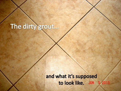 My Tile Grout Revealed The Steam Queen - How do i clean the grout on my tile floor